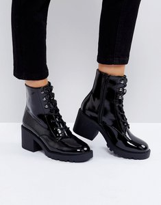 Read more about Asos rory lace up boots - black patent