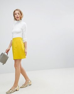 Read more about Asos tailored a-line mini skirt - yellow