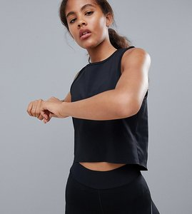 Read more about Asos 4505 tall vest top with laser cut technology - black