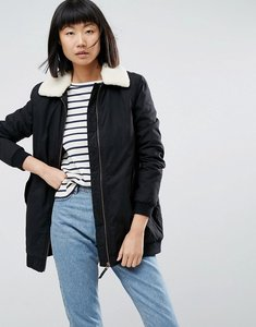 Read more about Parka london karin borg collared coat - black