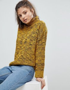 Read more about Missguided high neck knitted jumper - mustard