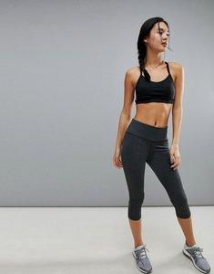 Read more about Adidas training 3 4 length legging in grey - dark grey heather