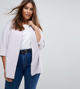 Read more about Asos curve soft chuck on blazer - silver
