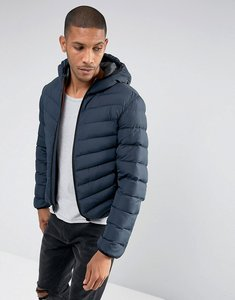 Read more about Brave soul hooded padded jacket - navy
