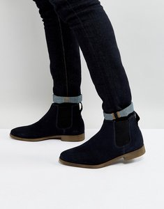 Read more about Kg by kurt geiger guildford chelsea boot in navy suede - blue