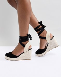 Read more about Pimkie espadrille wedges - black