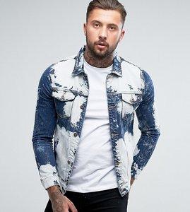 Read more about Liquor n poker extreme bleached denim jacket - blue