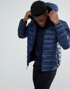 Read more about Polo ralph lauren lightweight down puffer jacket hooded packable in navy - aviator navy