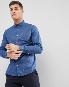 Read more about Selected homme slim shirt - dark blue