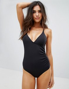 Read more about Pistol panties textured wrap over swimsuit - black