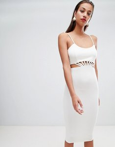 Read more about Asos design strappy cut out waist midi dress - white