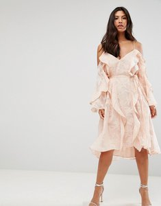Read more about Talulah love light midi dress - burnout print
