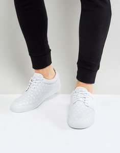 Read more about Asos lace up plimsolls in white with perforated detail - white