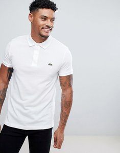 Read more about Lacoste slim fit logo polo shirt in white - 001