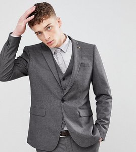Read more about Farah skinny dogtooth suit jacket - grey