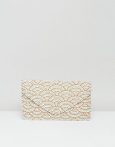 Read more about Clutch me by q hand beaded pink and gold shell clutch - pearl shells