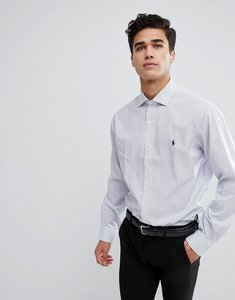 Read more about Polo ralph lauren square check smart shirt spread collar custom regular fit polo player in blue - wh