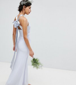 Read more about Tfnc bow back pleated maxi bridesmaid dress - ice