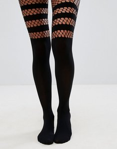 Read more about Asos fishnet otk tights - black