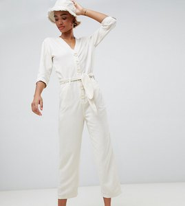 Read more about Stradivarius tie waist button detail boiler suit