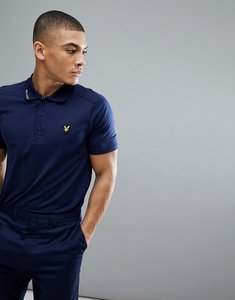 Read more about Lyle scott golf hawick tech polo shirt in navy - navy