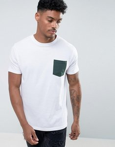 Read more about Brave soul green pocket t-shirt - white