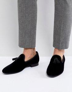 Read more about Kg by kurt geiger velvet tassel loafers black - black