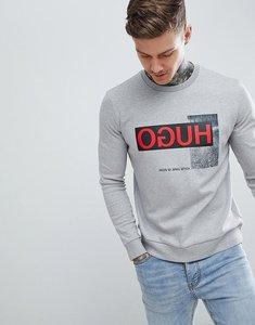 Read more about Hugo dicago-u1 large reverse logo crew neck sweat in grey - grey