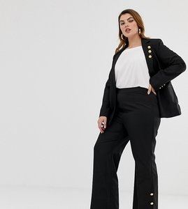 Read more about Unique21 hero tailored high rise trousers with gold buttons