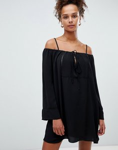 Read more about Glamorous cold shoulder dress - black