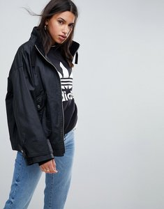 Read more about Asos waxed rain jacket - black