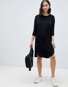 Read more about Asos oversize t-shirt dress with seam detail - black