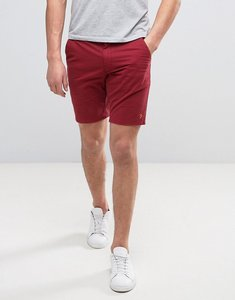 Read more about Farah hawk straight chino shorts in red - currant