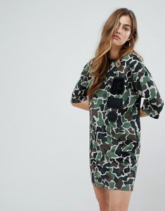 Read more about Adidas originals camo tee dress - multi