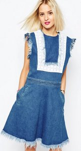 Read more about House of holland bib denim dress - blue