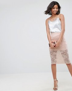 Read more about Asos lace pencil skirt - nude