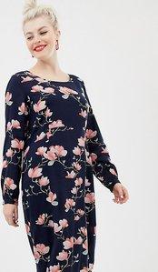 Read more about Junarose floral printed midi dress - multi
