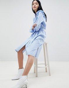 Read more about Gestuz tam stripe shirt dress with ruffle details - dark blue wht stripe
