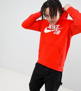 Read more about Nike sb icon pullover hoodie in red exclusive to asos - red