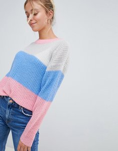 Read more about Jdy colourblock knit jumper - multi
