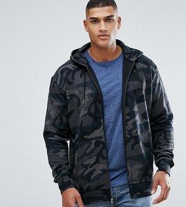 Read more about Polo ralph lauren tall zip through hoodie in black camo print - grey multi camo