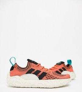 Read more about Adidas originals f 22 primeknit trainers in orange - orange