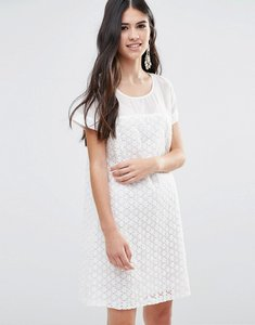 Read more about Traffic people a line dress in daisy lace - white
