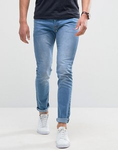 Read more about Loyalty and faith skinny fit jeans with light abbrasions in light wash - blue