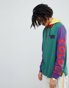 Read more about Polo ralph lauren snow beach limited capsule hood insert rugby polo in green purple yellow - pine