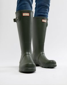 Read more about Hunter original tall wellies in green - green