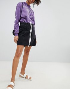 Read more about Cheap monday denim skirt with white zip - black