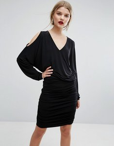 Read more about Gestuz pen cold shoulder dress - black