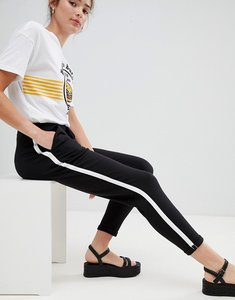 Read more about Pull bear side stripe jogger pant in black - black