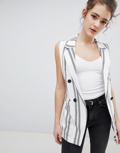 Read more about Bershka stripe sleeveless blazer - multi